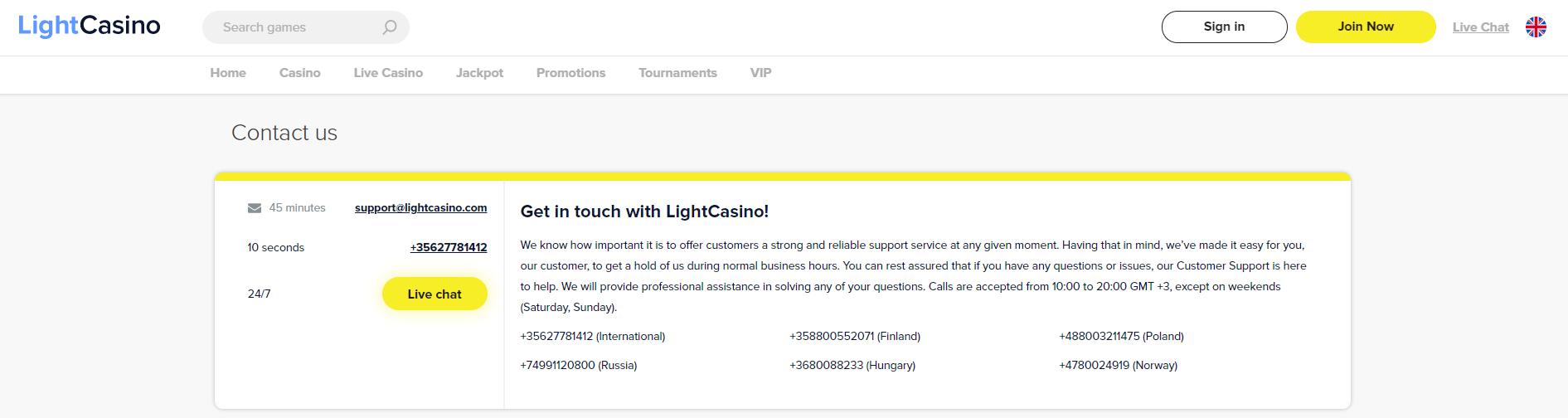 light-casino-kundenservice-deutsch-erfahrung